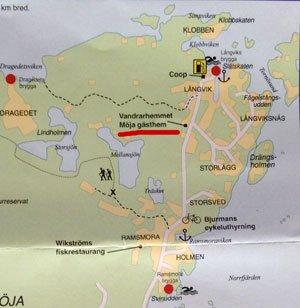 möja karta Möja Gästhem – bör undvikas   Bortom Tullarna möja karta
