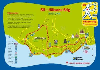 sigtuna karta Sigtuna – en 5 km promenad i historisk miljö på Hälsans stig  sigtuna karta