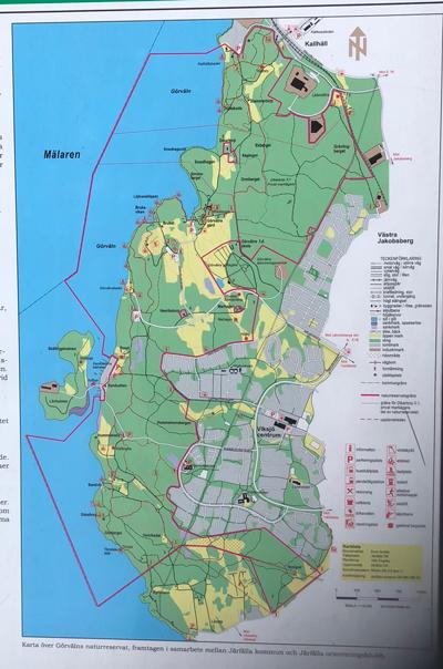 gåseborg karta Görvälns naturreservat, en vandring på Upplandsleden: Görvälns  gåseborg karta